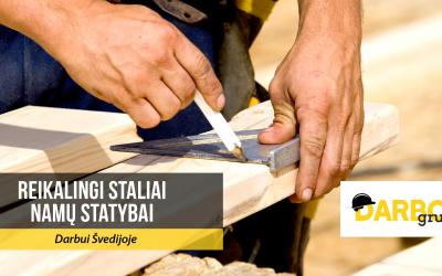 Reikalingi staliai/dailidės darbui Švedijoje