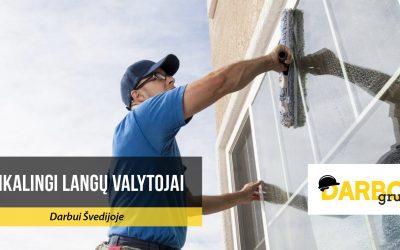 Reikalingi langų valytojai darbui Švedijoje